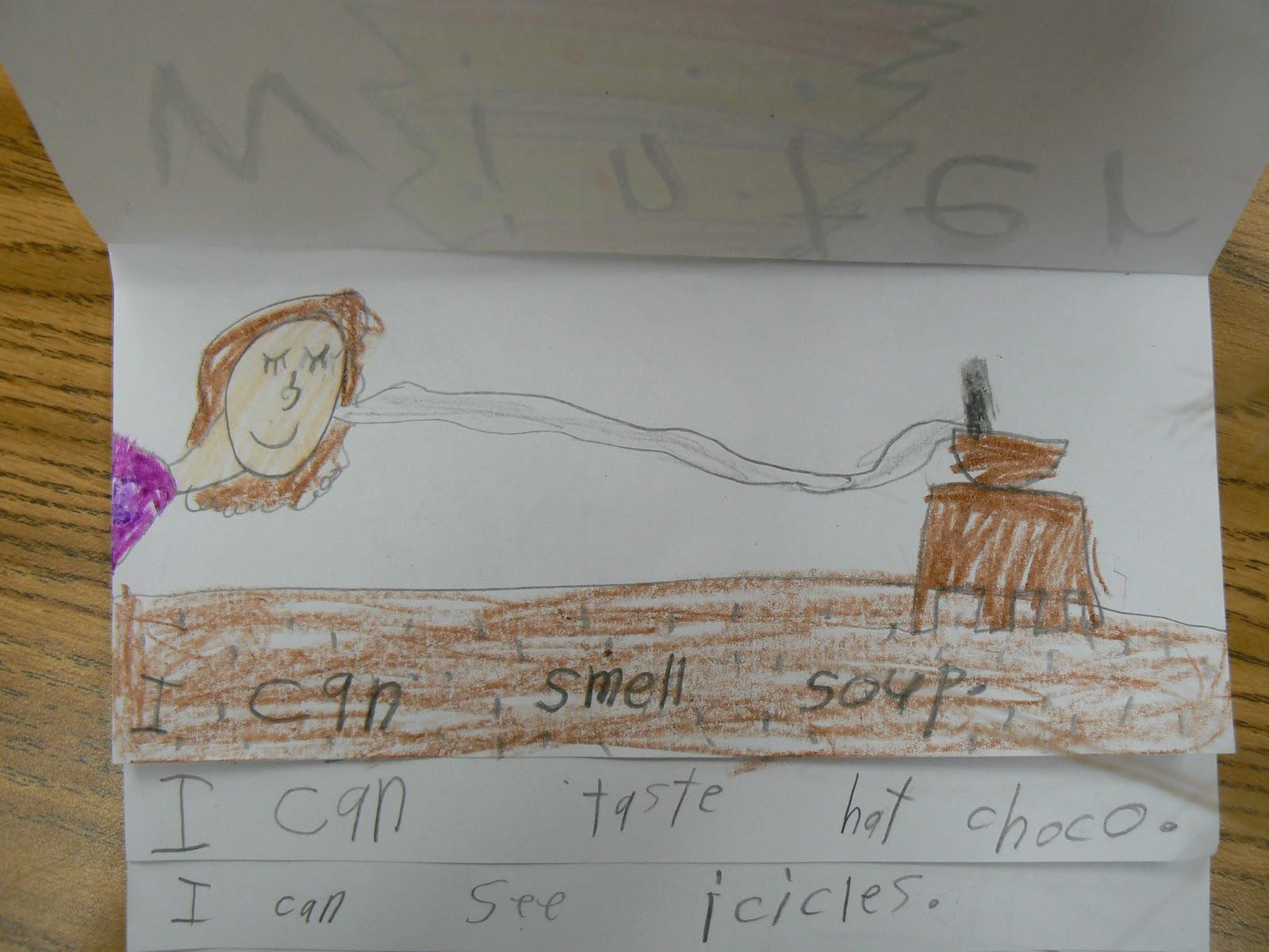 Mrs T S First Grade Class Winter Five Senses