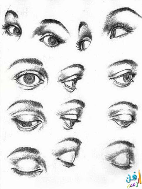 كيفية رسم العين بقلم الرصاص والفحم في دروس جميلة وبسيطة لرسم العيون