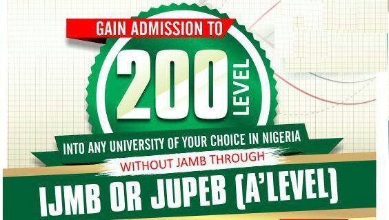 gaining Admission into 200 level