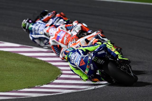 Valentino Rossi terpaksa puas di tempat keempat MotoGP Qatar