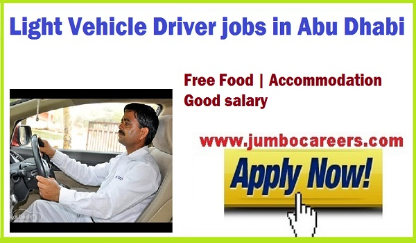 Driver jobs in UAE, Light driver job with food and accommodation