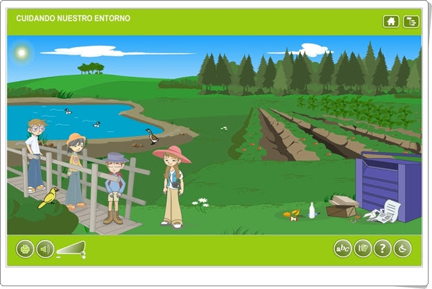 """""""Cuidando nuestro entorno"""" (Aplicación interactiva de Ciencias Sociales de Primaria)"""