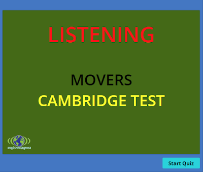 ENGLISH LANGUAGE RESOURCES: LISTENING EXERCISE FOR MOVERS YOUNG LEARNERS