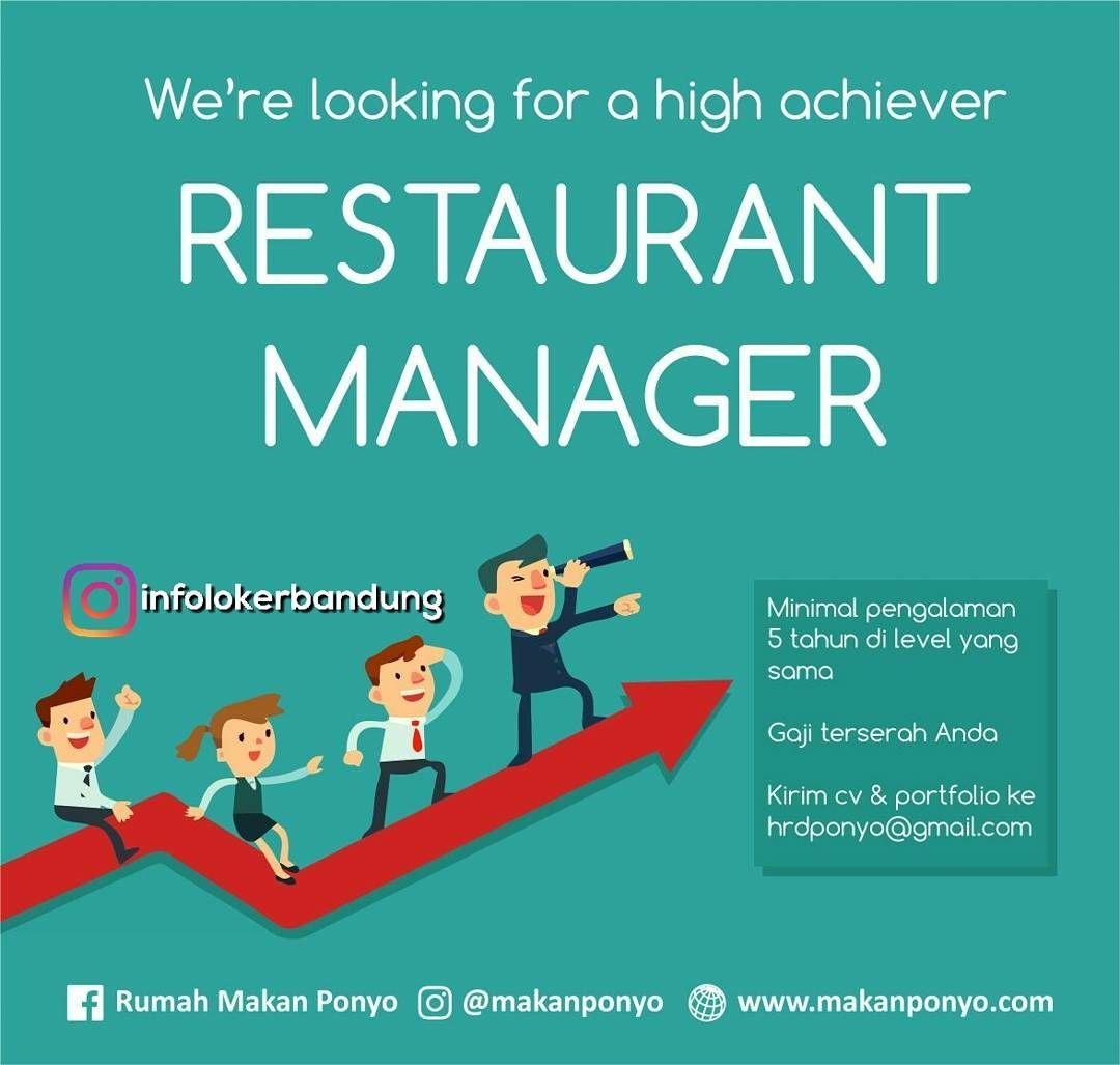 Lowongan Kerja Restaurant Manager Rumah Makan Ponyo Bandung Agustus 2017