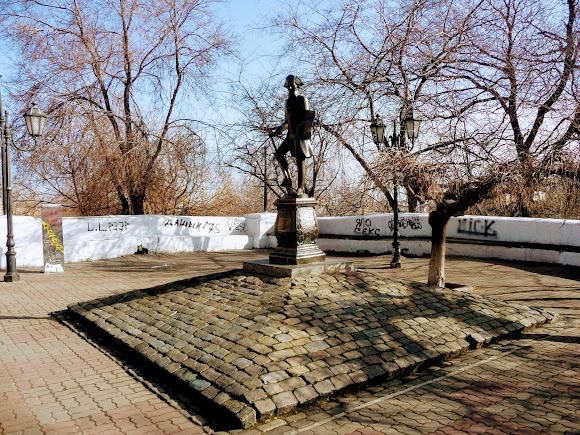Одесса. Дерибасовская ул. Памятник Иосифу Де-Рибасу