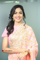 Actress Ritu Varma Pos in Beautiful Pink Anarkali Dress at at Keshava Movie Interview .COM 0071.JPG