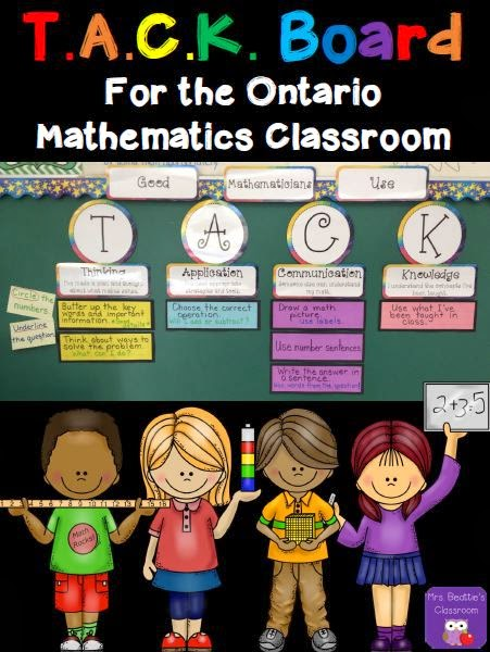 http://www.teacherspayteachers.com/Product/TACK-Board-for-the-Ontario-Mathematics-Classroom-1171958