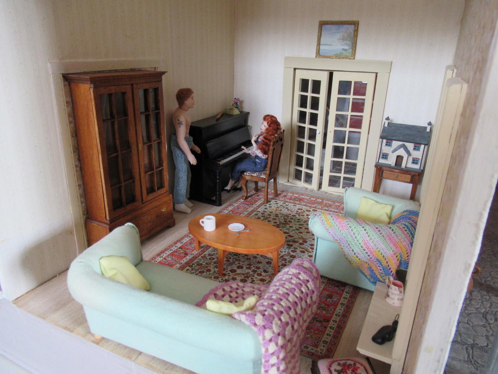 Margriet 39 s miniatures m huis meubels woonkamer furniture living room - Woonkamer meubels ...