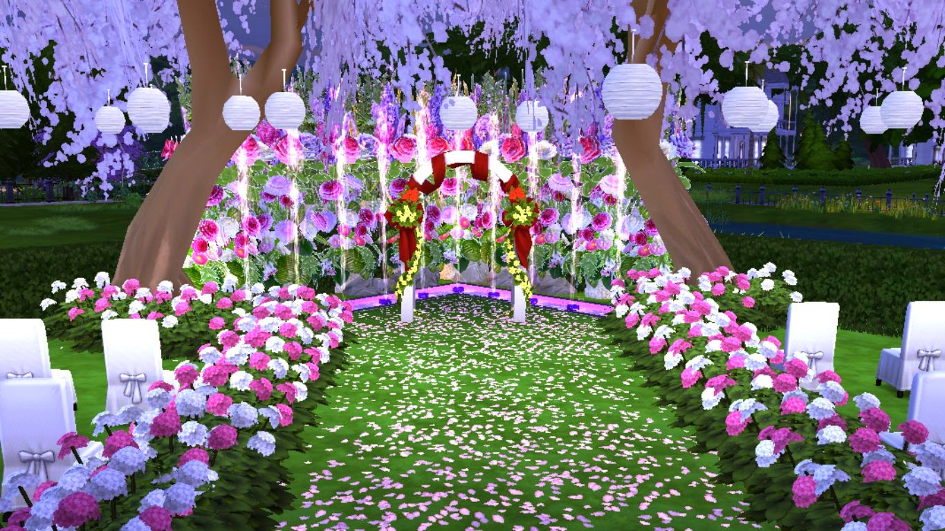 sims 4 wedding lot
