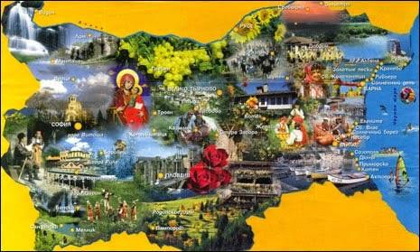 Болгария карта достопримечательностей