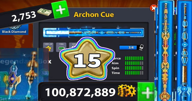 coins 8 ball pool 100 Million Level 1 cash 16