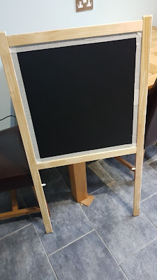 DIY wedding blackboard What Claire Did