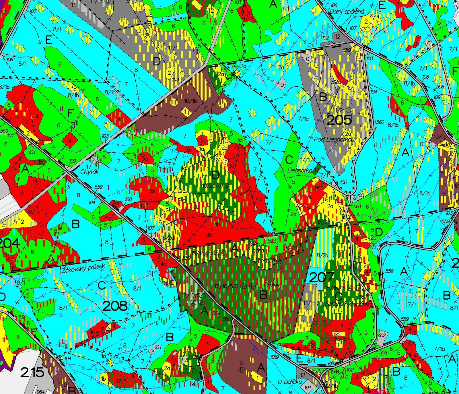 Lesprojekt Hradec Kralove Porostni Mapa