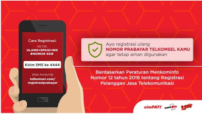Cara Registrasi Ulang Kartu Telkomsel Pelanggan Prabayar