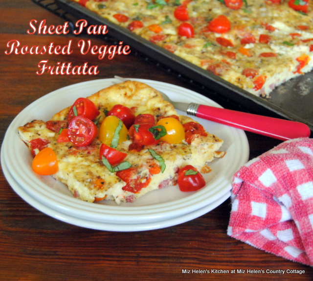 Sheet Pan Roasted Veggie Frittata at Miz Helen's Country Cottage