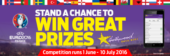 Win great prizes with Euro 2016 promotions at Hollywoodbets