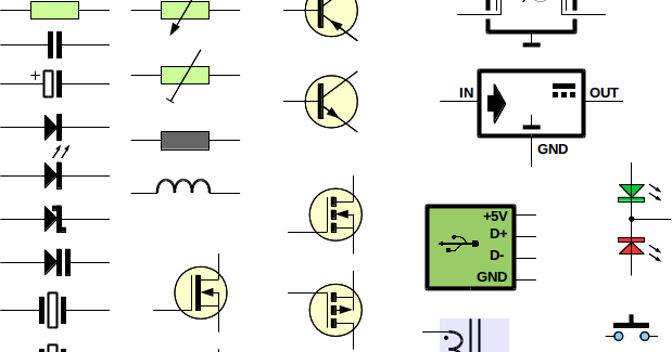 Draw Electronic Schematics Using Libreoffice One Transistor