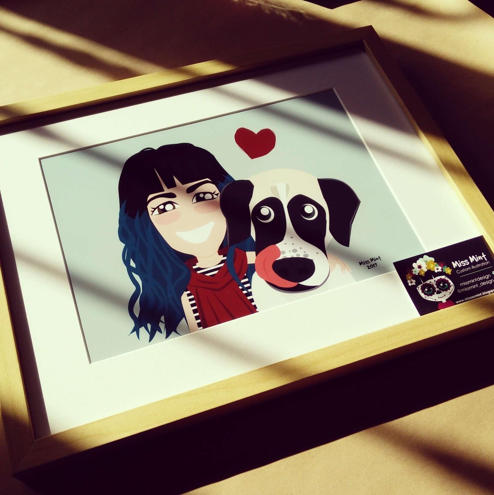 regalos originales con ilustraciones personalizadas miss mint