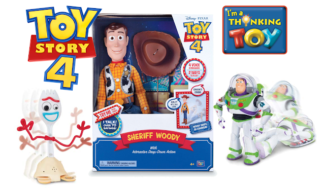 Toy Story 4 Thinkway Toys Forky, Woody and Buzz Lightyear
