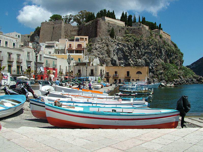 Lipari Town Italy Beautiful Coastal Village