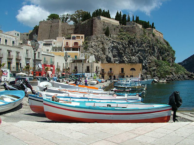 Lipari Town Italy Beautiful Coastal Village
