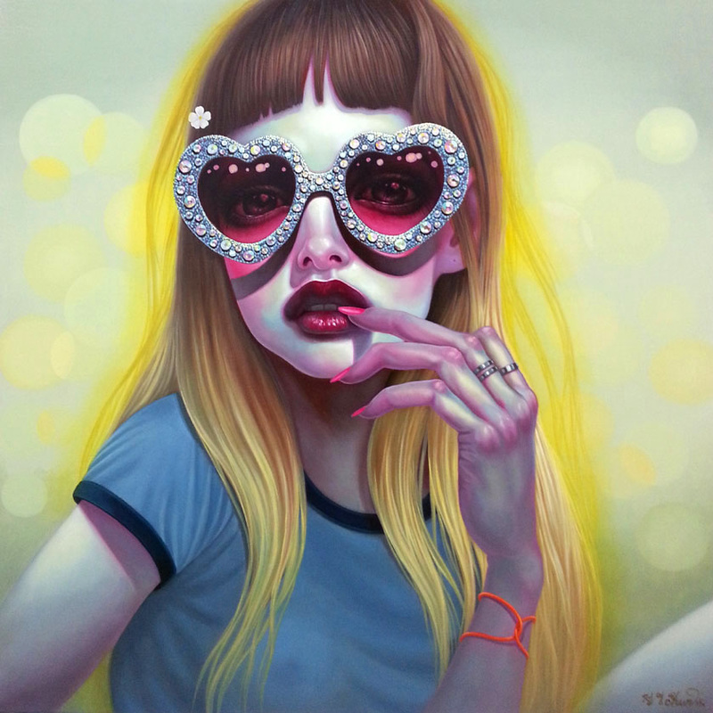 "Paintings By Korean Artist ""Young Chun"""
