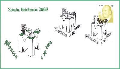 Sobre con matasellos de Mina, Montaña, Montsacro, Grucomi, Morcín 2005
