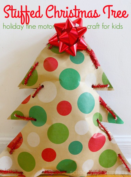 christmas tree fine motor skills craft