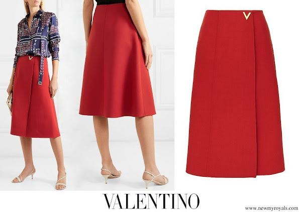 Countess of Wessex wore VALENTINO Embellished wool wrap skirt