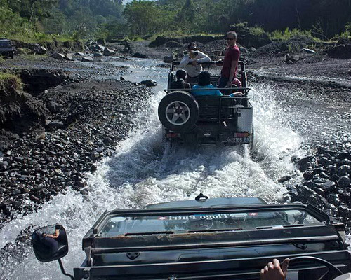Travel.Tinuku.com Mount Merapi National Park conservation area most active volcanoes in the world and tracks geological sites