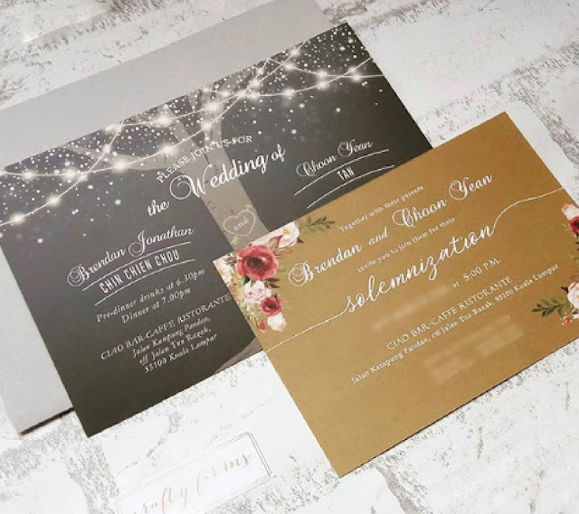 Modern Rustic Wedding Invitation Cards Printing