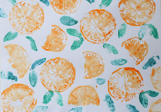 DIY Fruit and Vegetable Prints
