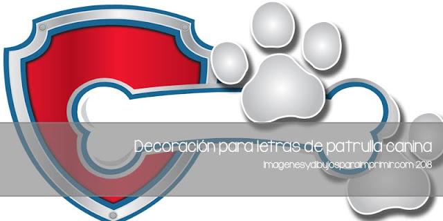 Letras de patrulla canina para imprimir