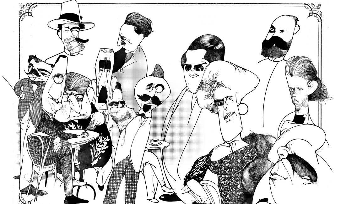 ilustração da coletânea Medo Imortal por Lula Palomanes