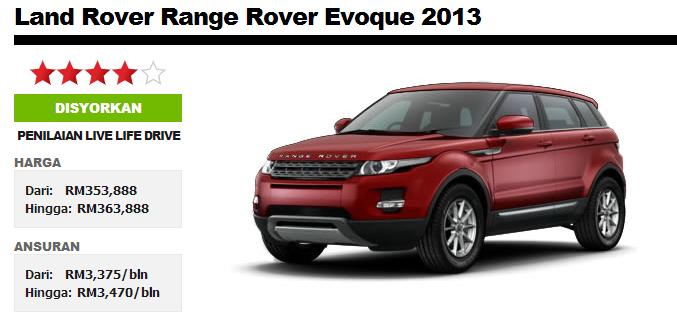 Blog Coklateyes By Innanie Ariffin Review Range Rover Evoque Malaysia