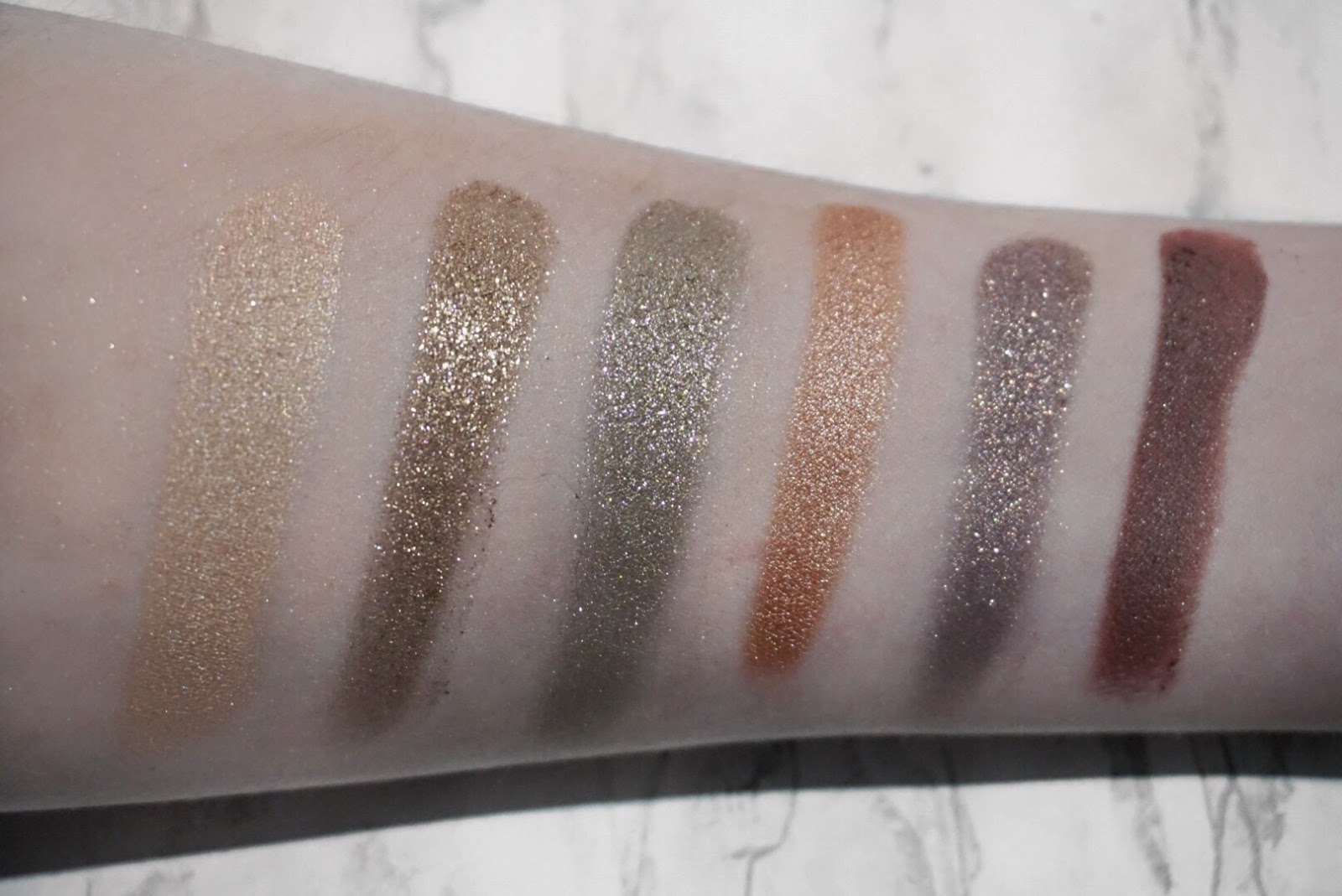 Colourpop Mile High Eyeshadow Set Swatches of the 6 Shades.