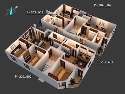 Mặt bằng căn hộ chung cư mini Đông Ngạc - Từ Liêm