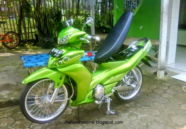 Modifikasi Motor Yamaha Jupiterz 2010 Hijau