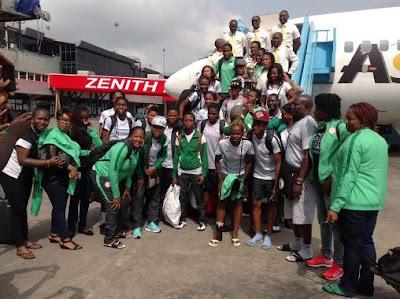 Victorious Super Falcons arrive Nigeria