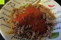 Nudeln mit Sauce: Sojanudeln BIO (1x250g) mit 41% Protein, Low Carb, NON-GMO von Five-Mills.de für Muskelwachstum und Muskelerhalt - Eiweißnudeln geeignet als Fleischersatz Supplementersatz Vegetarier Soja aus Österreich
