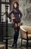 womens steampunk costume cosplay tutorial DIY sexy sheer steampunk lingerie