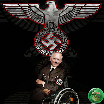 Wolfgang Schäuble aus Sicht der Griechen lustig - Nazi im Rollstuhl