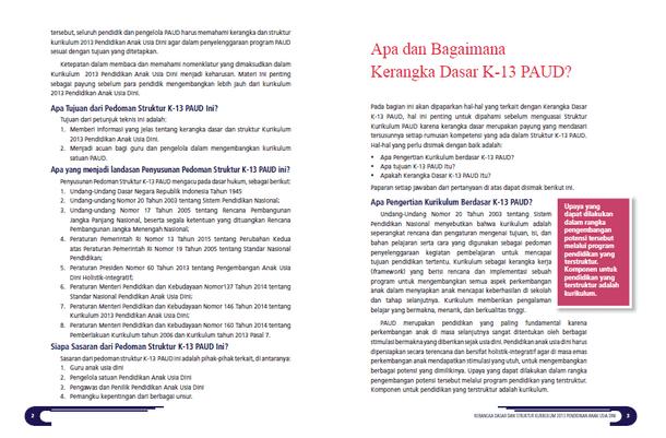 Kerangka Dasar dan Struktur Kurikulum 2013 PAUD - Apa dan Bagaimana?