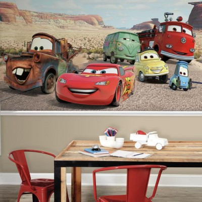 fototapet barn tapet barnrum disney cars tapet killtapet