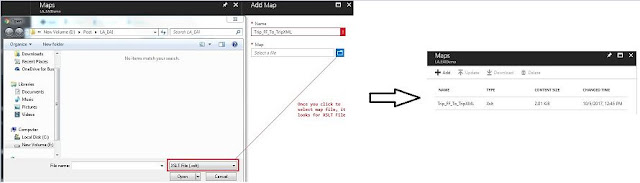 upload map in Integration Account