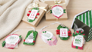 Jaxx Crafty Creations, Stampin' Up!, Sincerely Santa Kit, Christmas Gift Tags,