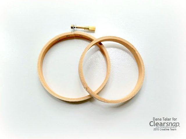 Natural Wood Embroidery Hoops Before Staining by Dana Tatar