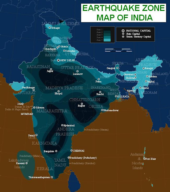 Earthquake Zone Map of India