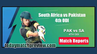 Today 4th ODI Match Prediction South Africa vs Pakistan Dream 11 Team