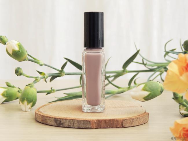 revue avis test vernis nailberry vegetaliens vegan pink dust storm mystere fashionista swatch